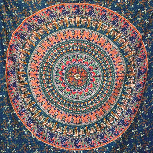 MOMOMUS Tapiz Mandala Indio - 100%...