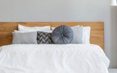 Cabeceros de cama de madera modernos