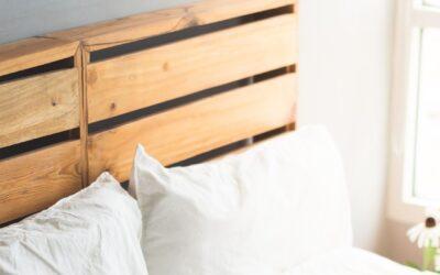 Cabeceros con listones de madera